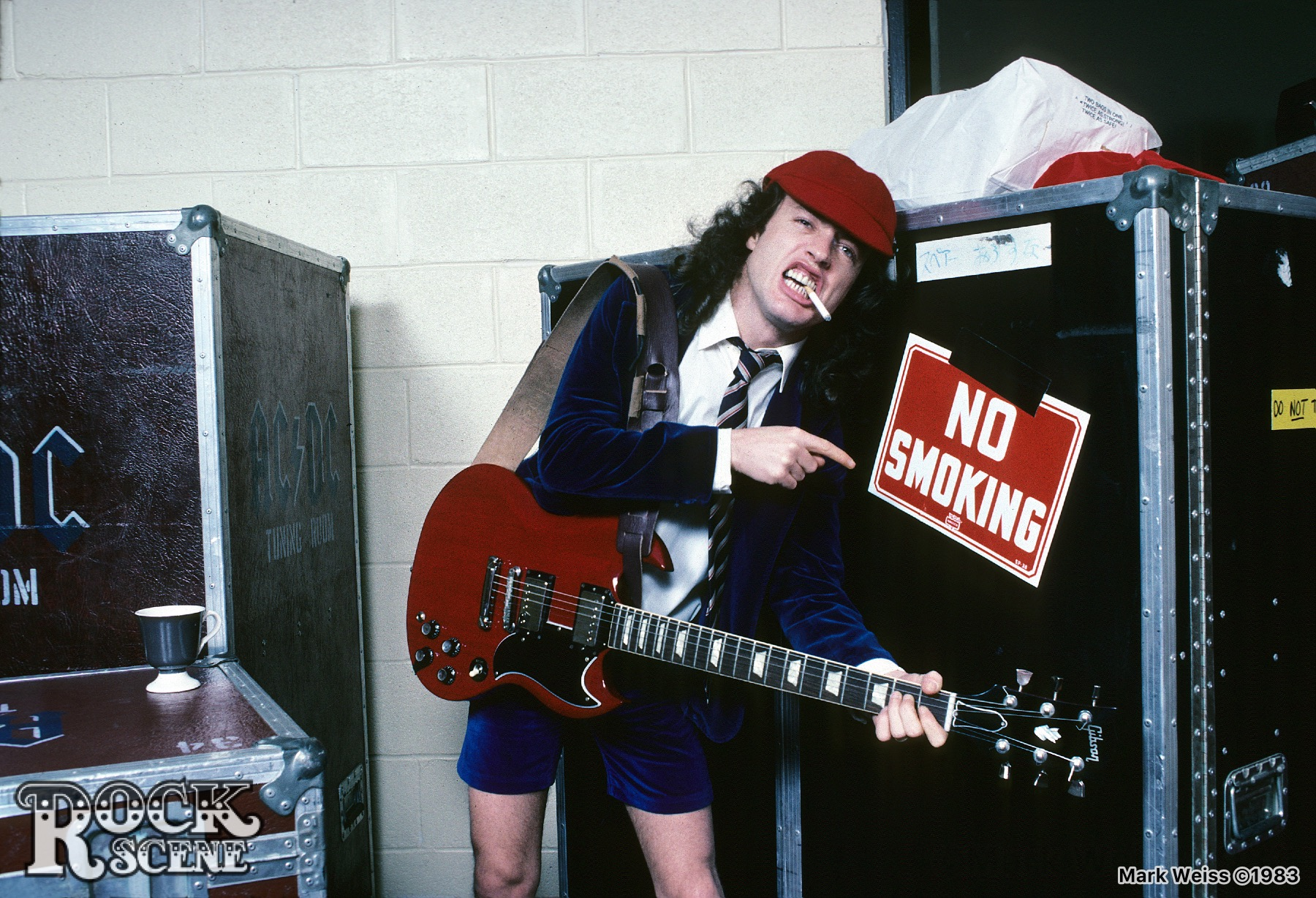 Happy Birthday To Angus Young  Born On March 31, 1955